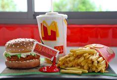 Burger, chips & coke!