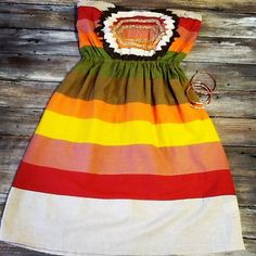 This striped Judith March dress is too cute!! $88.95!