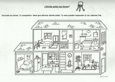 Spanish 1 spanish house, house colouring pages, english primary school. Spanish Classroom, Teaching Spanish, Teaching English, Spanish 1, Spanish House, English Primary School, House Colouring Pages, Grande Section, English Activities