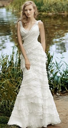 romantic wedding dress #wedding #dress