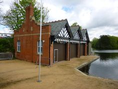 Boat House by Zrnho Correy Stamford Park Boating Lake Stalybridge England.