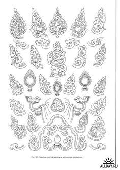 Bildergebnis für kbach a study of khmer ornament Tibetan Symbols, Buddhist Symbols, Buddhist Art, Tibetan Tattoo, Tibetan Art, Thai Pattern, Pattern Art, Zentangle, Mehndi