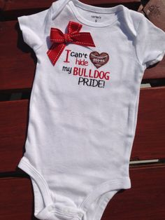 University of Georgia Bulldog football jersey Baby bodysuit Georgia Bulldog