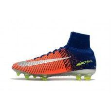 separation shoes e7a20 41ff3 Nike Mercurial - Scarpe Calcio 2017 Nike Mercurial Superfly V CR7 FG  Arancia Blu Bianca Online