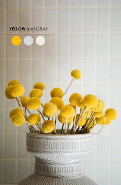 5 Wedding Color Palettes to Love - www.theperfectpalette.com - Color Ideas for Weddings + Parties yellow and gray color palette,