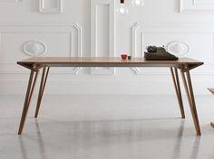 Mesa extensível lacada retangular de madeira OBLIQUE by ALIVAR design Andrea Lucatello