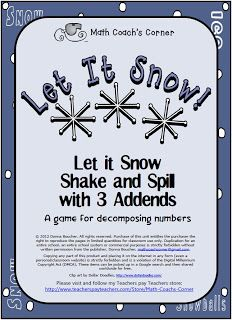 Let it Snow: Shake and Spill with THREE Addends