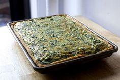 spinach sheet pan quiche