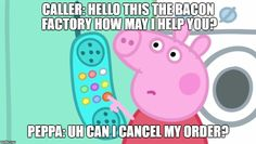 A new angry Peppa Pig meme is making its round around the internet. We've compilated the most funniest one, sprinkled with a few classic Peppa Pig memes. Peppa Pig Funny, Peppa Pig Memes, All Time Low, New Memes, Dankest Memes, Peppa Pig Stickers, Peppa Pig Wallpaper, Memes Lindos, Funny Adult Memes