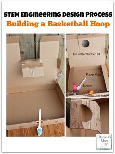 STEM Engineering Design Process- Create a Basketball Hoop and Dunking Lever