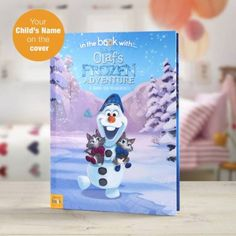 Personalised Disney Olaf's Frozen Adventure Story Book - Olaf's Frozen Adventure - Softback The lovable snowman returns for his very own adventure! Frozen Story, Frozen Book, Olaf Frozen, Film Frozen, Frozen Disney, Personalised Childrens Books, Personalized Books, Personalised Gifts, Disney Olaf