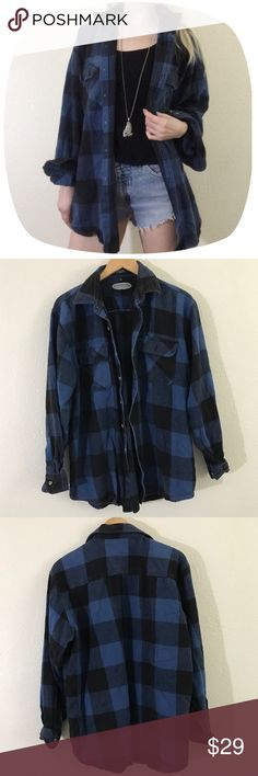"•90's VTG Heavy Weight Plaid Duster/Shirt• •MEASUREMENTS• Bust-40"" Length- 31""  •DETAILS • •Model is 5' 5"" and is a size XS• Heavy weight cotton fabric• Heavy enough to be worn as a light jacket• Looks nice oversized on smaller sizes• Small hole on back (pictured)• Brand is ""Canyon Guide""•  ••NO TRADES••❌NOT UNIF❌ #90s #vintage #grunge #oversized #duster #buttonup #plaid #goth UNIF Tops Button Down Shirts"