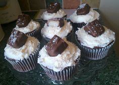 My chocolate and coconut cupcakes :)