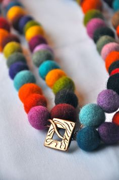 Double the Fun #Felt #Necklace #colour