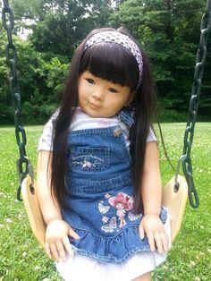Ethnic Asian toddler girl reborn doll by Rowe2GoOriginals Reborn Dolls