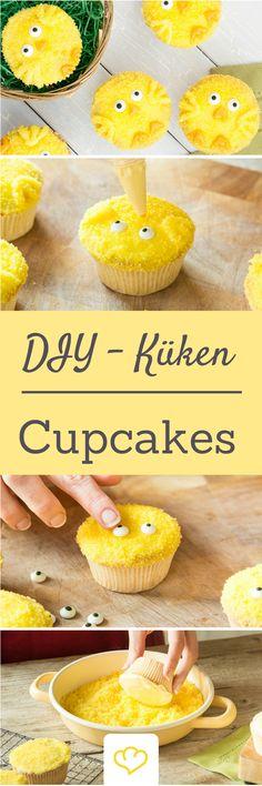 Zuckersüße Küken-Cupcakes Die Grundlage für die niedlichen kleinen Küken-Cupcakes bildet der perfekte Cupcake-Teig mit dem perfekten Frosting. Woher ich weiß, dass die beiden perfekt sind? Ich hab's knallhart getestet! Meine Tipps vom saftigen Teig bis zum 1A-Frosting gibt's hier. Dekoriert habe ich die süßen Ostertörtchen dann mit gelbem Zucker. Den kann man mit viel Glück schon fertig kaufen oder ganz einfach selber einfärben.