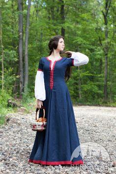 Льняное платье «Незабудка»