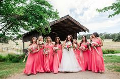 Chelsea and her girls and a covered bridge - basically the best rustic backyard wedding ever!  More from their big day at: http://www.sarahmaren.com/rustic-backyard-wedding-details  Sarah Maren Photography Sacramento, California Available World Wide