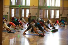 Free yoga at the St. Paul Union Depot