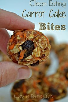 Clean Eating Carrot Cake Bites - a yummy healthy treat you will definitely have to try. LuvaBargain.com