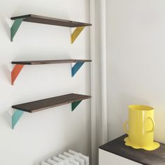 Furniture. Outstanding Home Accessories Ideas Featuring Splendid Home Made Shelves Combine Divine Rustic Wooden Shelves Also Delightful Iron Retaining Shelf Brackets Decor. Be Creative By Designing Innovative Home Made Shelves