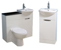 Dual toilet and sink vanity combo - perfect for that tiny home!