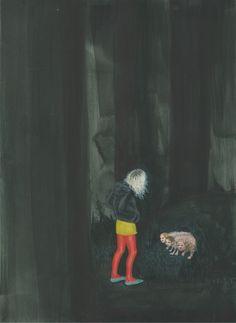 Artist Aleksandra Waliszewska painting