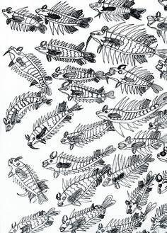 Vissen; kunstenaar Edwin
