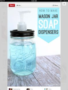 DIY- Get a old jar with a lid and cut a hole to fit in a soap pump. Stick it in and add soap! Simple as that! :)