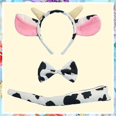 (This is an affiliate pin) Halloween Cow Headband Bow Tie Tail Milk Cow Hair Bands Headpiece Women Cow Ears Horns Hairband Hair Hoop Holiday Party Decoration Cosplay Costume Christmas Carnival Handmade Hair Accessories 1 Set Cow Ears, Fashion Headbands, Christmas Carnival, Decoration Christmas, Christmas Accessories, Hair Hoops, Handmade Hair Accessories, Headband Styles