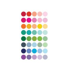 Rainbow Dots Wall Art Print ($30) ❤ liked on Polyvore featuring home, home decor, wall art, polka dot home decor and polka dot wall art