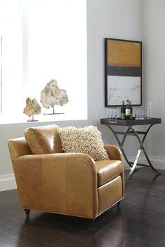 Ethan Allen neutral interiors. Neutral living rooms. The Greggy Chair.