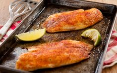 Baked Southwestern Tilapia...yummy and super easy.  The rub would also be great on chicken!