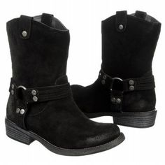 Rocket Dog BOOTS BLACK Suede Motorcycle Western