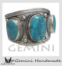 Middle East Bohemian Jewelry Turquoise Bracelet by GeminiHandmade