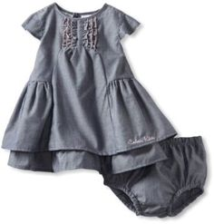 Calvin Klein Baby-Girls Infant Dress with Panty, Blue, 12 Months Calvin Klein. $15.40