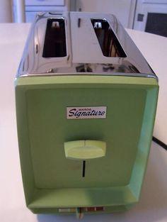 Vintage (avocado green) toaster...