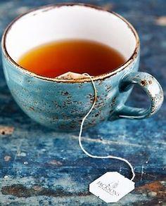 Placid Blue Cup Of Tea - vintage retro decor