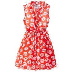 Beautees Girls 2-6X Shirt Waist Dress