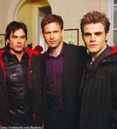 Damon, Alaric, and Stefan (Those were the days!)