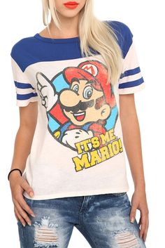 Nintendo Mario Football Girls T-Shirt