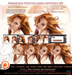 Painting with reference voice over lesson .promo. by sakimichan on DeviantArt