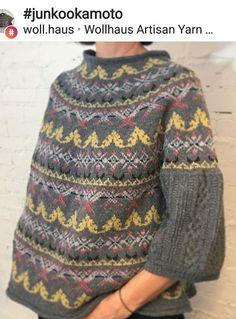 Fair Isle Knitting Patterns, Knitting Machine Patterns, Sweater Knitting Patterns, Knit Patterns, Knitwear Fashion, Knit Fashion, How To Purl Knit, Arm Knitting, Pulls