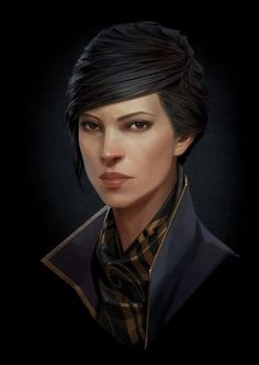 Enjoy The Art of Dishonored 2 in a a collection of Concept Art made by Cedric Peyravernay, Piotr Jabłoński, Sergey Kolesov & Arkane Studios. Dishonored 2 i Fantasy Portraits, Character Portraits, Character Art, Avatar, Face Characters, Fantasy Characters, Sergey Kolesov, Emily Kaldwin, Arkane Studios