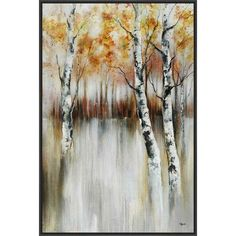PTM Images Calm Reverie Framed Painting Print on Canvas