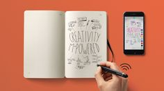 Moleskine have just launched a new writing set that allows you to draw or take notes using a smart pen, in their specially designed notebook, that then works with an app to instantly digitize it for you. Cool Gifts For Him, Post Its, Gift For Architect, Moleskine Notebook, Moleskine Pen, Tablet, Hardware, Note Paper, Best Christmas Gifts