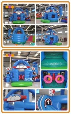 With the vivid painting, robotic plane combo is attractive to kids and it will give a happy and memorable childhood to all the children in the world. Inflatable Bouncers, How To Start Running, Minions, Special Events, Plane, Children, Kids, Robot, How To Memorize Things
