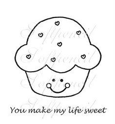 Mil e uma ideias cabem nesse blog: Carimbos para topper de cupcakes