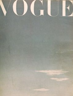 // Vogue cover. -
