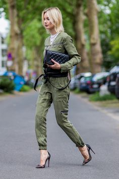 How To Wear: Olive Green Overall w/ Set